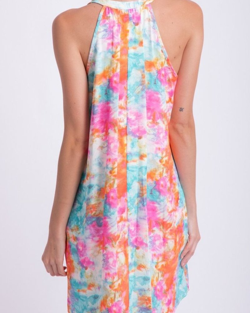 Peach Love CA Watercolor Dress