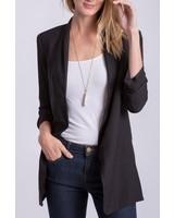 Peach Love CA Solid 3/4 sleeve jacket