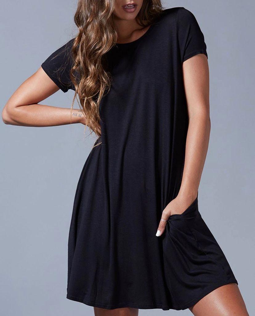 Peach Love CA Solid Knit Tunic Dress