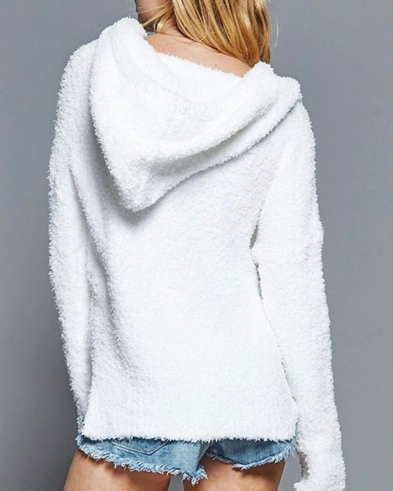 Fantastic Fawn Hooded, v-neck pullover