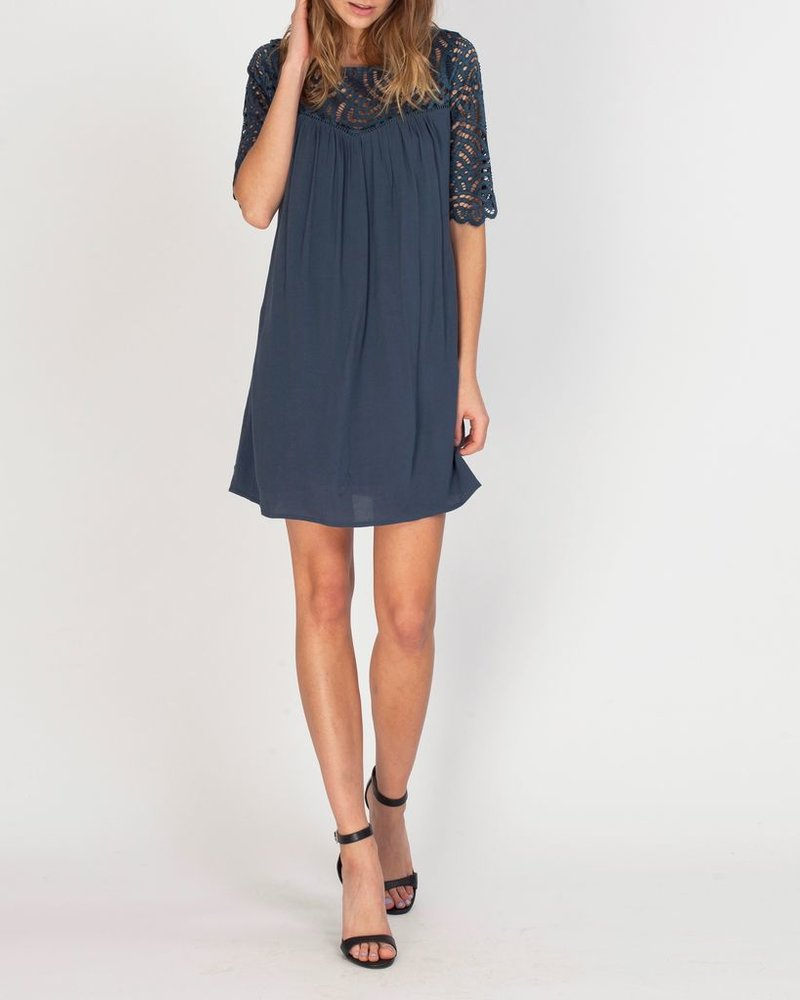 Gentle Fawn Lace sleeve dress