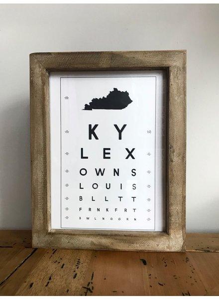 Contstructed Matter Framed Kentucky eye Chart print