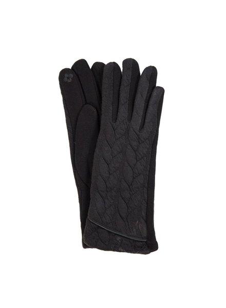 Trend Boutique Cable Knit Black Smart Gloves