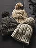 Two's Cable Knit Pom Hat