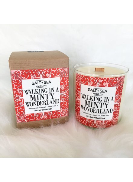 Salt + Sea Candle Co Salt +Sea Minty Wonderland Candle