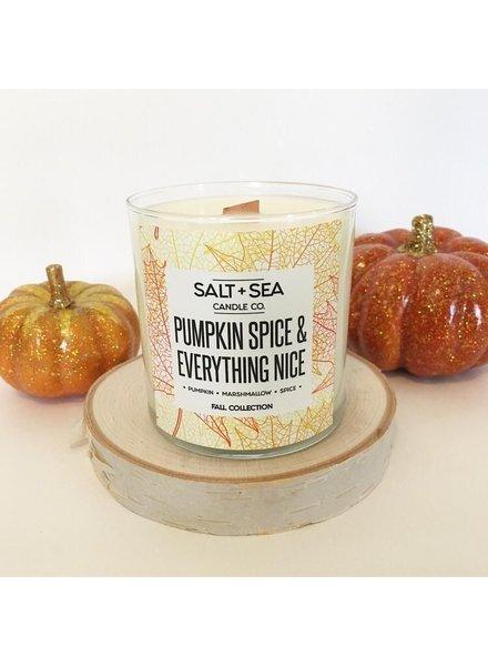 Salt + Sea Candle Co Salt +Sea Pumpkin Spice Candle