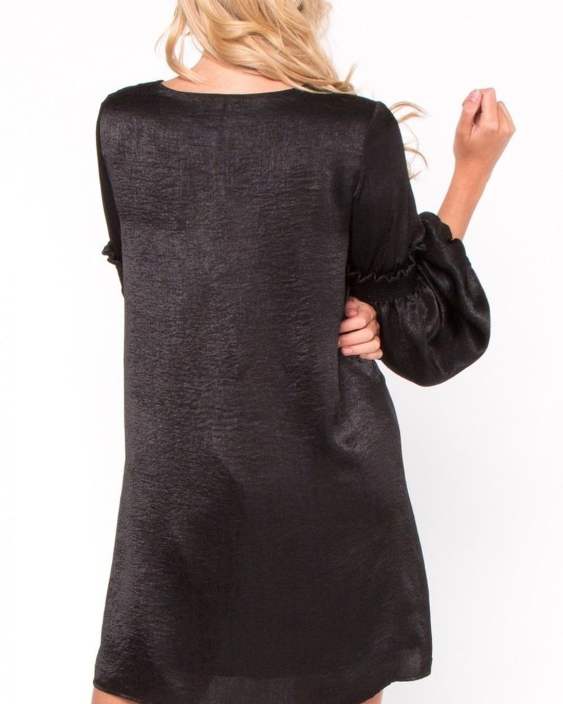 Everly Shiny shift dress