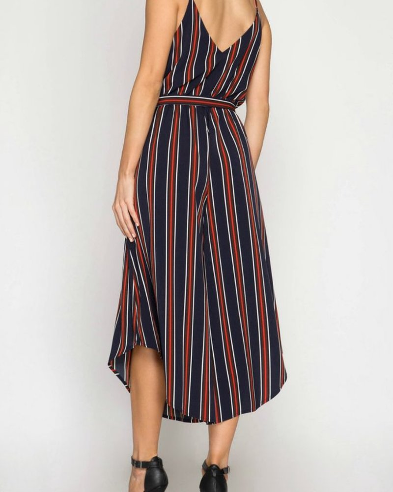 She & Sky Striped Wideleg Jumpsuit