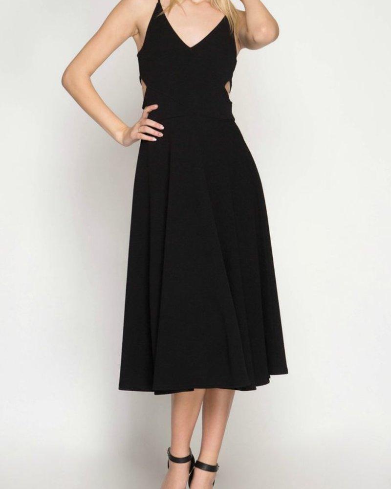 She & Sky Textured Midi Dress
