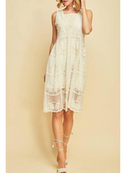 Entro Crochet Mesh Dress