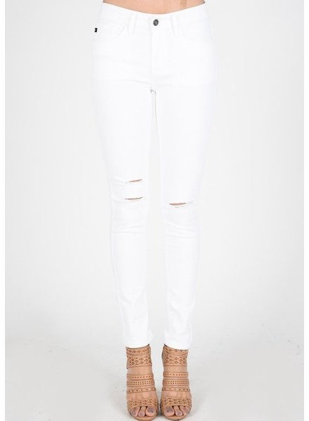 KanCan Distressed White Denim
