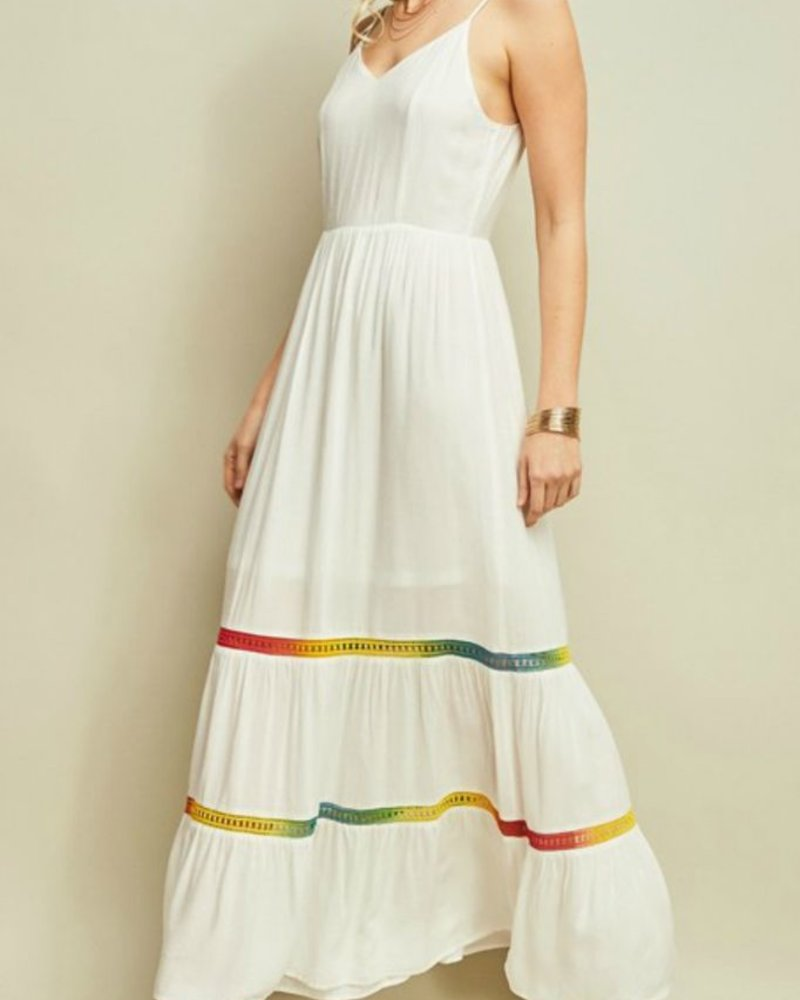 Entro Colorful hem maxi dress