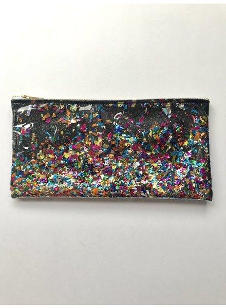 Julie Mollo Glitter Confetti clutch