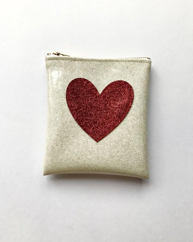 Julie Mollo Mini heart clutch
