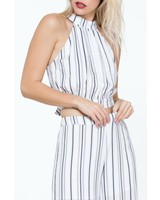 The Room Label Striped Tie Back Top