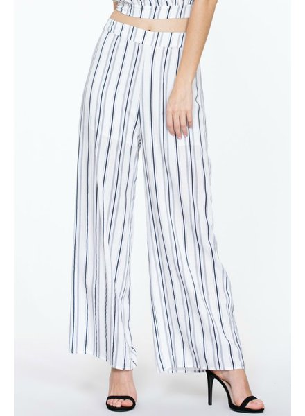 The Room Label Striped wide leg pant