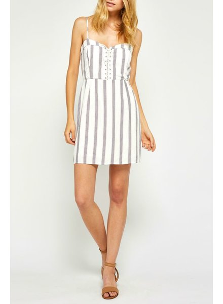 Gentle Fawn Striped convertible dress