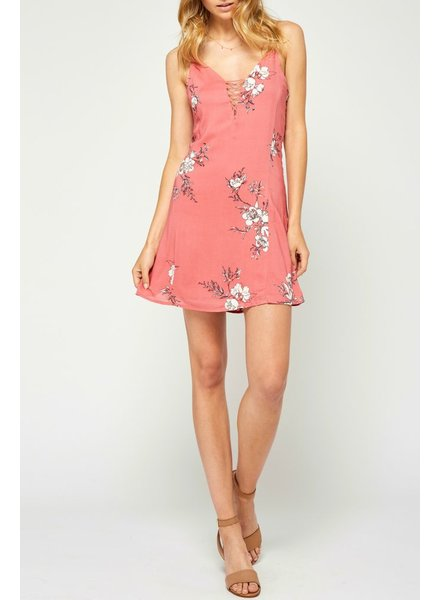 Gentle Fawn Floral open back dress