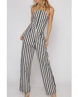 Fantastic Fawn Striped Jumpsuit with back detail