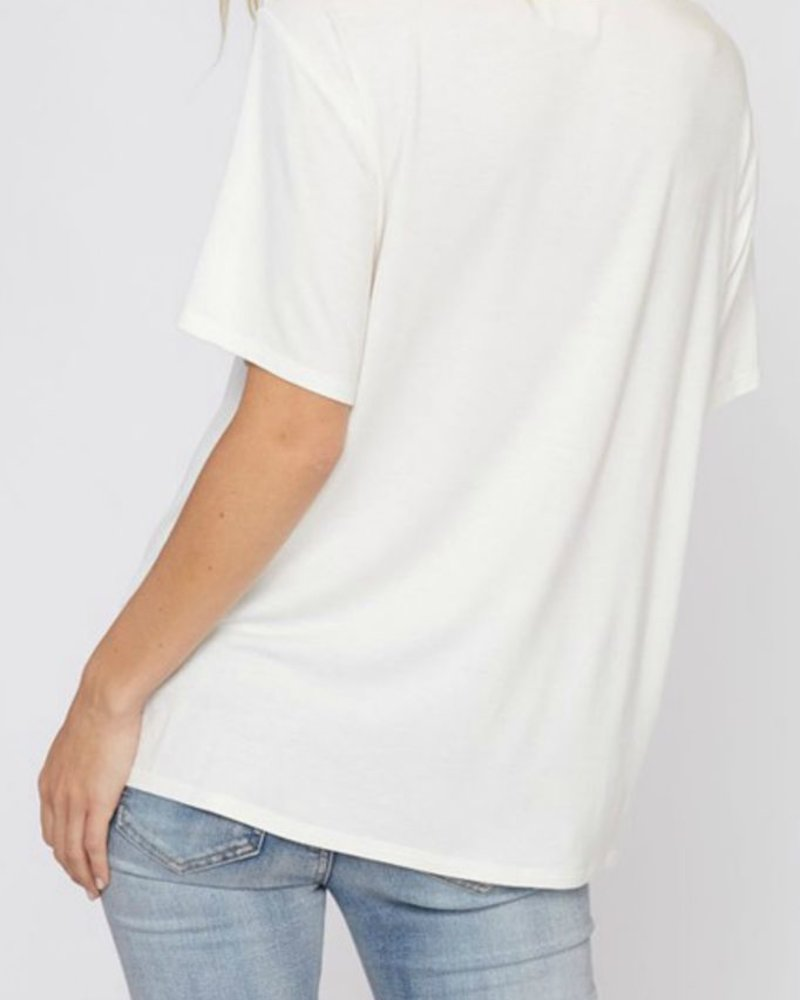 Fantastic Fawn Strappy Cutout Tee