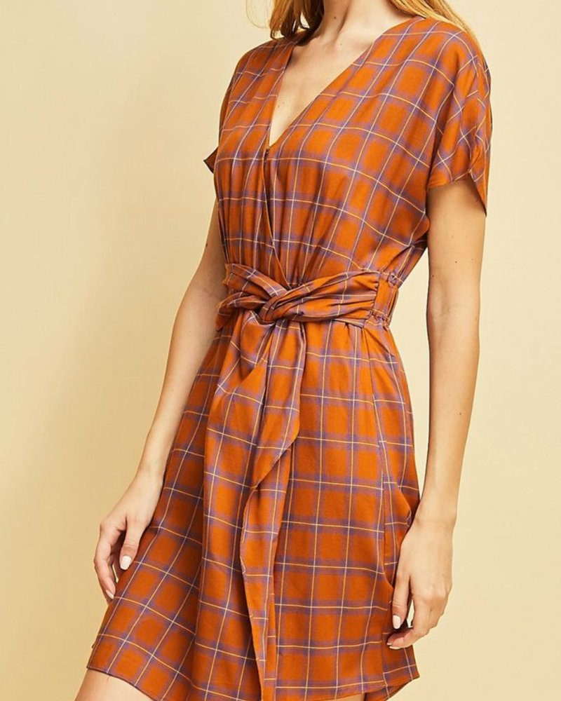 Entro Plaid print dress