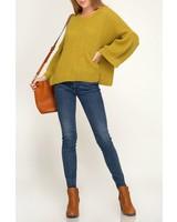 She & Sky Bell Sleeve Sweater
