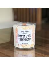 Salt + Sea Candle Co Salt + Sea Pumpkin Spice Candle