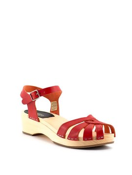 Swedish Hasbeens Cross Strap Debutant Red