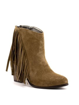 B. Unique 167910 Fringe Boot Mocha