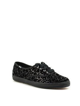 Keds Ch Leo Flocked Sequin Black