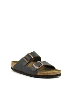 Birkenstock Arizona Brown Leather Soft Footbed Narrow Width