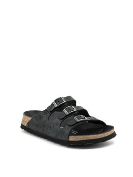 Birkenstock Florida Relief Black Leather Narrow Footbed