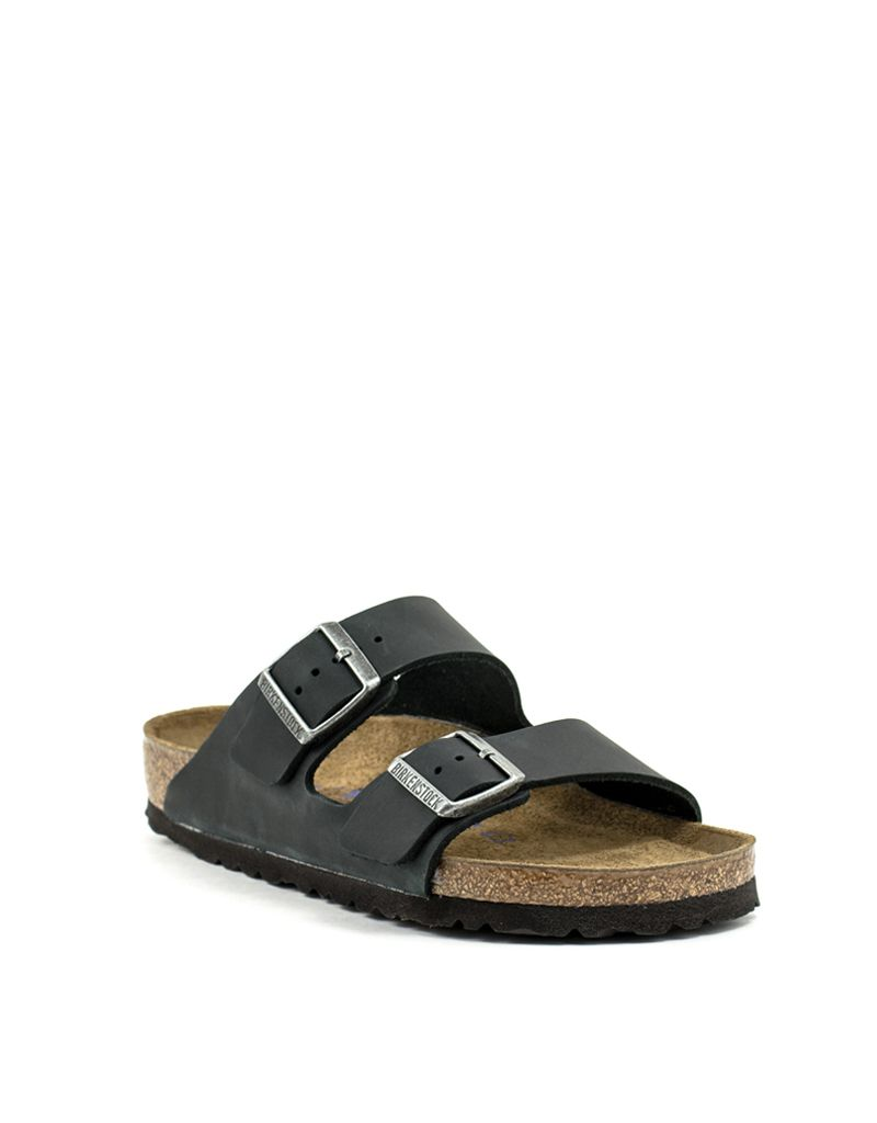 a43e259311d2 Birkenstock Birkenstock Arizona Black Oiled Leather Soft Footbed Regular  Width