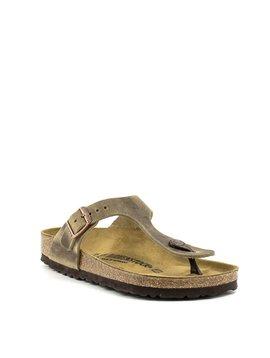Birkenstock Gizeh Tobacco Brown Leather Regular Footbed
