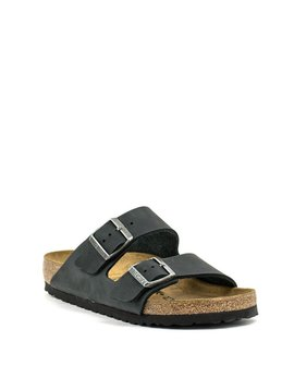 Birkenstock Arizona Black Natural Leather Regular Width