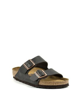 Birkenstock Arizona Brown Leather Soft Footbed Regular Width