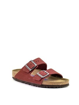 Birkenstock Arizona Rosewood Nubuck Leather Soft footbed Narrow Width