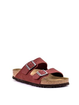 Birkenstock Arizona Rosewood Nubuck Leather Soft footbed Wide Width