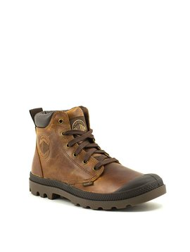 Men's Palladium Pampa Hi Cuff Leather Boot Sunrise/Chocolate