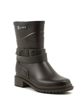 Aigle Macadames Mid Rain Boot Brown