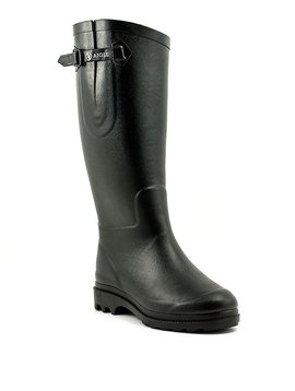Aigle Aiglentine Fur Rain Boot Black