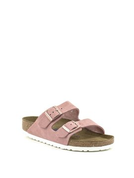Birkenstock Arizona Rose Suede Soft Footbed Regular Width