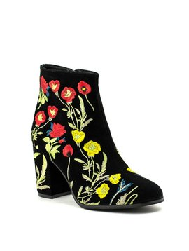 Wittner Ezrah Boot Black Embroidered