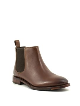 Johnston & Murphy Gabrielle Double Gore Bootie Brown Burnished