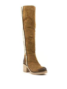 David Tyler Delizia 4 Fur Boots Cognac
