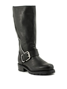 Frye Samantha Zip Tall Boot Black