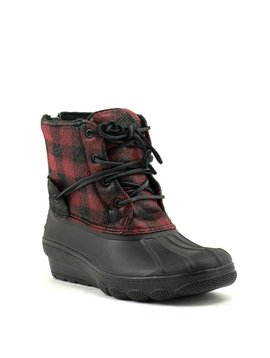 Sperry Saltwater Wedge Tide Boot Black/Red