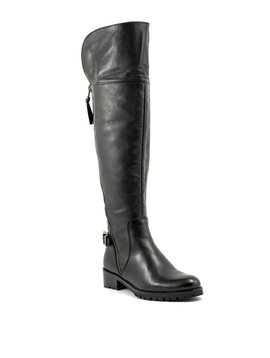 Steve Madden Simona Over The Knee Leather Boot Black