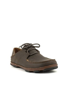 Men's Olukai 'Ohana Lace-Up Nubuck Dk Wood/Toffee
