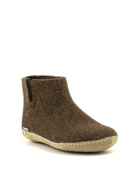 Glerups Boot Suede Sole Brown